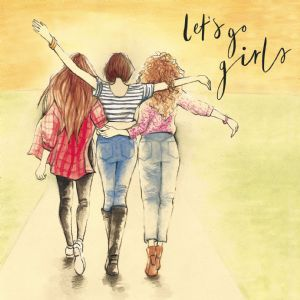LM2  Lets Go Girls Friendship Card